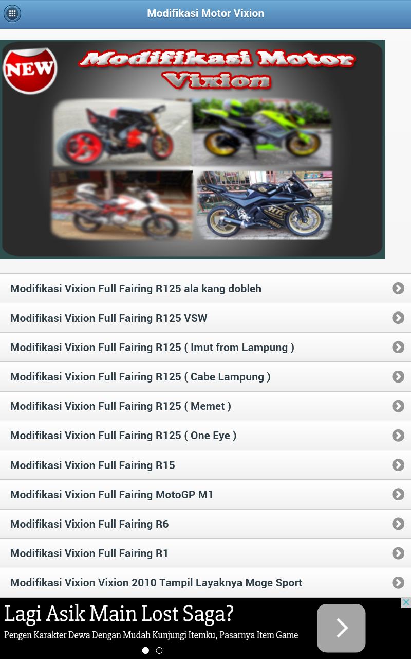 Aplikasi Android Modifikasi Motor Vixion Redcs1s Blog